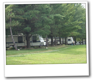 Any size RV can be accommodated
